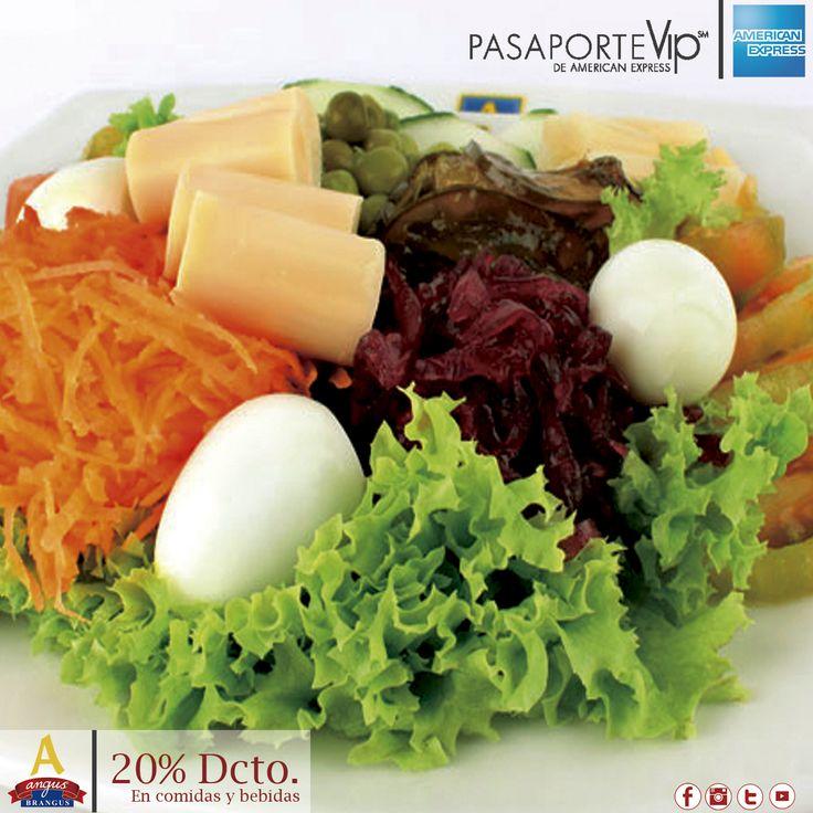 Disfruta la exquisita Ensalada Especial de  Angus Brangus Parrilla Bar , acompañada de aceite de Oliva y vinagreta de la casa.  Hoy con 20% de dcto. gracias a Pasaporte Vip  .   Reservas: 2321632. www.angusbrangus.com.co Cra. 42 # 34 - 15 / Vía las Palmas  #restaurantesmedellín #AngusBrangus #medellín #Parrilla #Gastronomíainternacional #recomendadosmedellín #medellíntown #medellíncity #medellínsisabe #laspalmas #Bar American Express   #Colombia #Descuentos