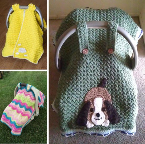 Baby Car Seat Cover Free Crochet Pattern