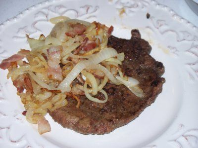Liver and Onions! Why we had to eat this.. I'll never know but, she ...
