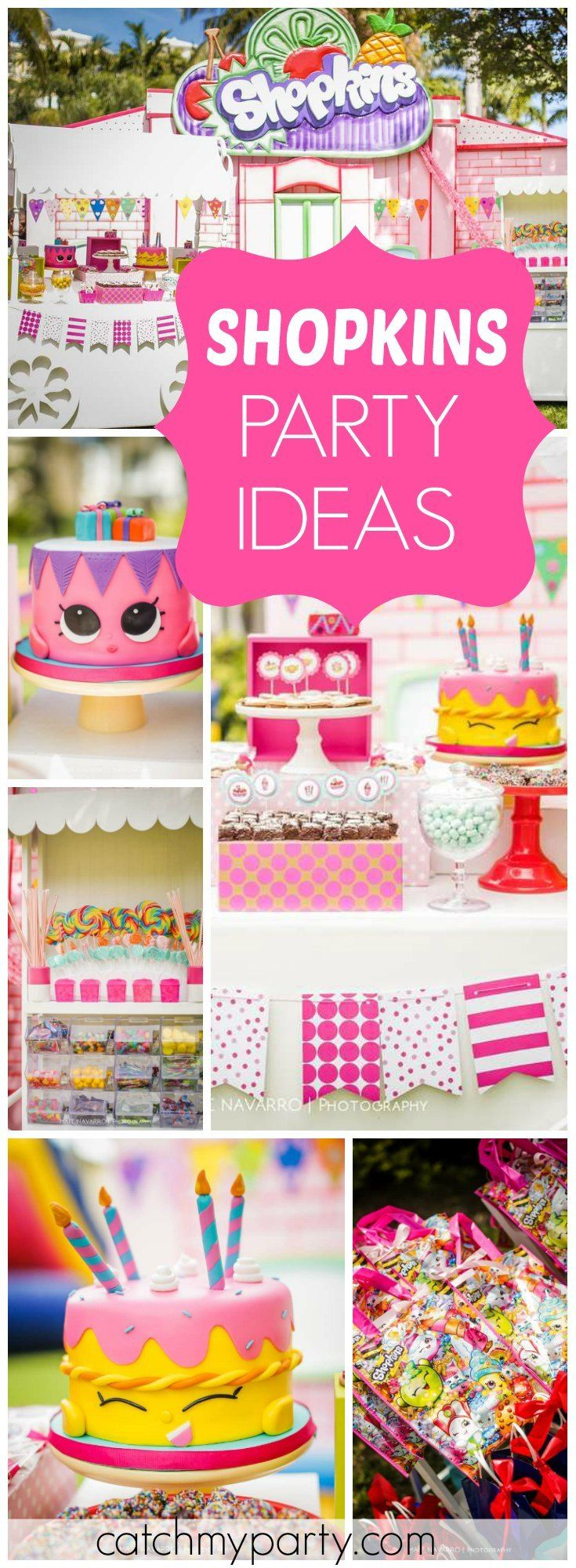 So many fantastic details at this Shopkins girl birthday party! See more party ideas at Catchmyparty.com!