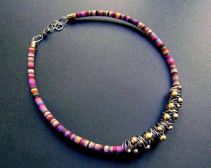 Kolorowa kolia w artkatalina -  biżuteria artystyczna na DaWanda.com