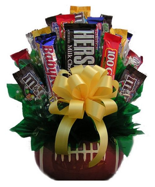 Movie Night Bouquet With Drinks: 17 Best Ideas About Football Gift Baskets On Pinterest