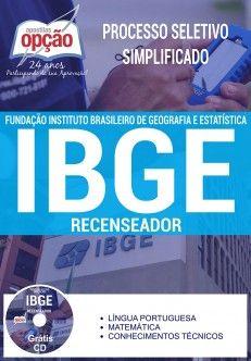 Apostila IBGE PDF Download Digital Recenseador 2017 - Instituto Brasileiro de Geografia e Estatística Apostila Concurso 2017 IBGE Impressa ou Baixar