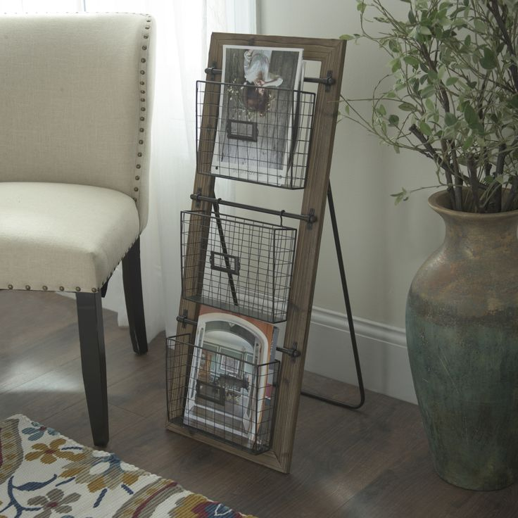 De-clutter your coffee table by adding the Wireframe Basket Magazine Stand to your living room. Tuck your magazines, books or files into this basket tower for easy accessibility and a clean look. Shop through 1/29 and save up to 25% off.
