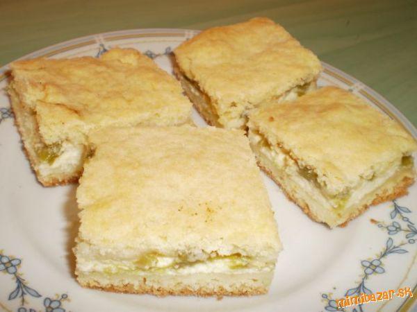 Rebarborový koláč s tvarohom - fantastický
