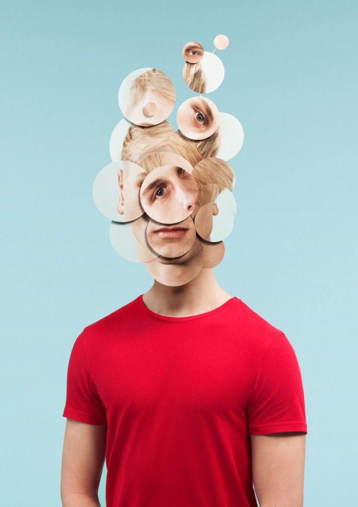 Damien Poulain – Paper Mask, 2013 Ladies room: девушка в декорации из кучи самых разных зеркал, они вокруг нее везде, как узкая комната