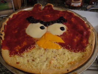 angry bird pizzaKids Recipe, Amazing Recipe, Easy Recipe, Fun Food, Birds Birthday, Birds Pizza, Angry Pizza, Angry Birds, Fun Pizza