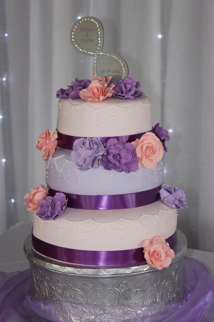 Loved to make this pretty purple wedding cake