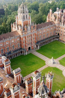 Royal Holloway College, Egham Surrey, named as One of the World's Most Beautiful Universities.