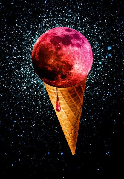 sweet side of the moon art print by Sustici