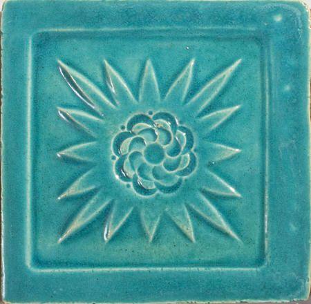 Handmade Ceramic Decorative Tile - Mexico in Azure by DeKa Ceramic Tiles