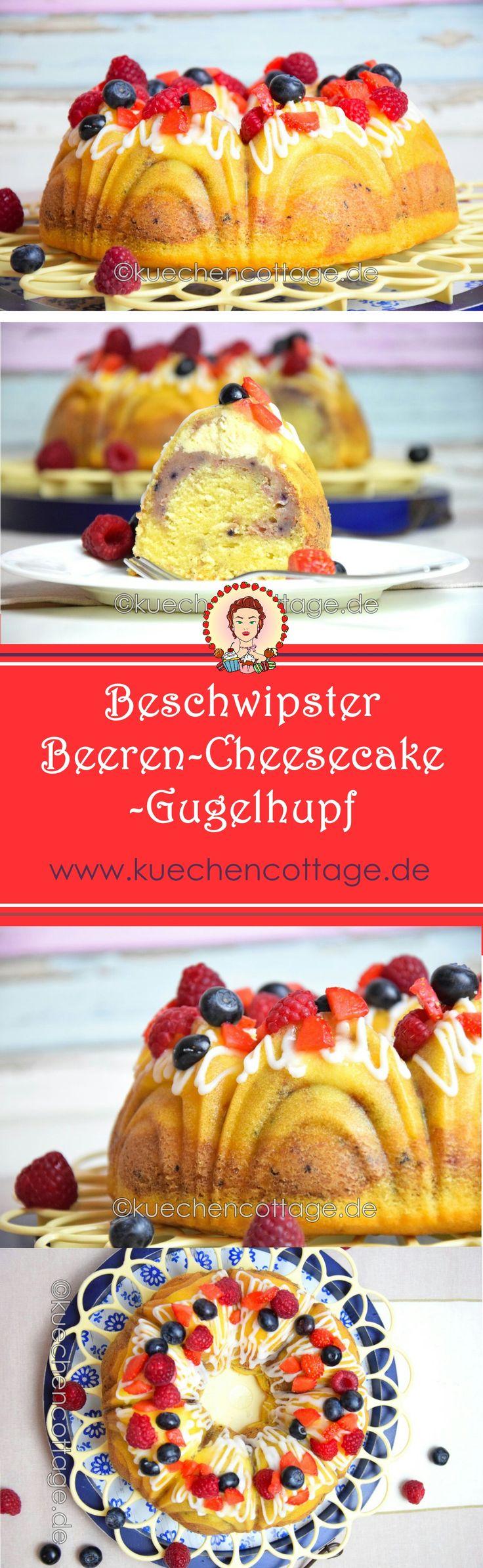 Für meinen Geschmack ist dieser köstliche Gugelhupf der perfekte Begleiter für den Nachmittagskaffee. Eine traumhafte Kombination aus Erd-, Him-, Heidelbeeren und feinem Rührkuchen mit Schwips, wird gekrönt von einer cremigen Cheesecake-Füllung. Absolut mein Fall und bestimmt auch deiner.   #backen #kuchen #Rührkuchen #beeren #cheesecake #Gugelhupf #Gugl #Guglhupf #Rezept #Backideen #Beerensaision #Erdbeeren #Heidelbeeren #Himbeeren #Sektkuchen #Beerenkuchen #foodporn #Blog