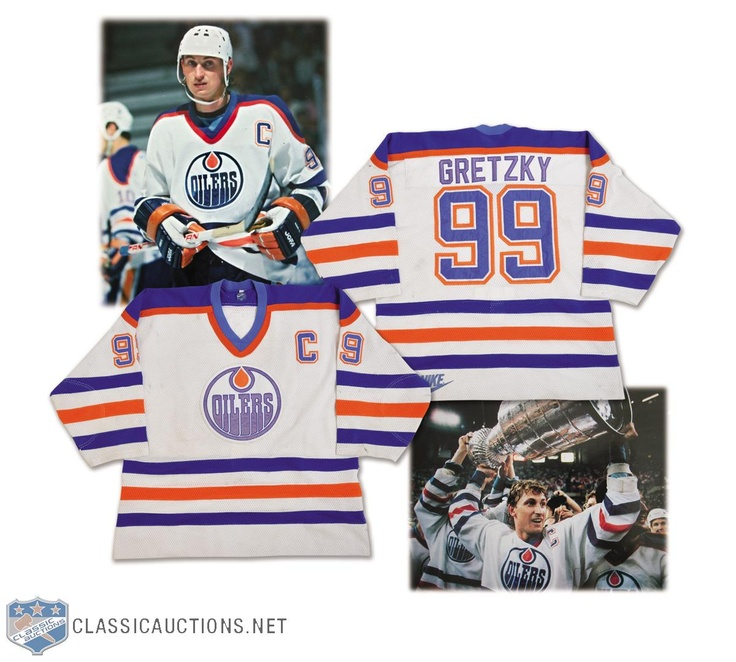 Wayne Gretzky's 1986-87 Edmonton Oilers 500th Goal and Stanley Cup Finals Game-Worn Jersey - Photo-Matched!