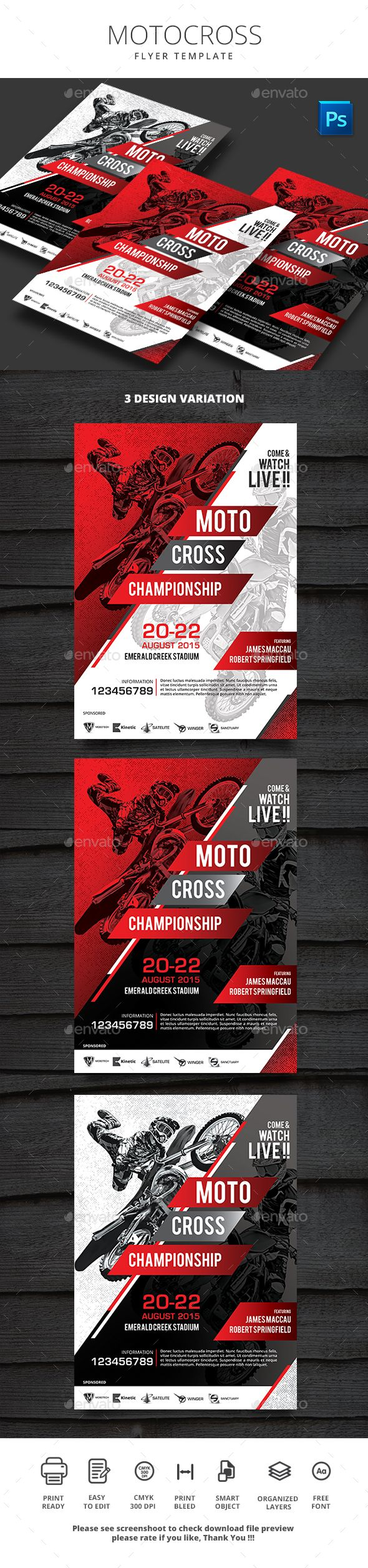 Motocross Flyer Template PSD. Download here: http://graphicriver.net/item/motocross-flyer/16921238?ref=ksioks