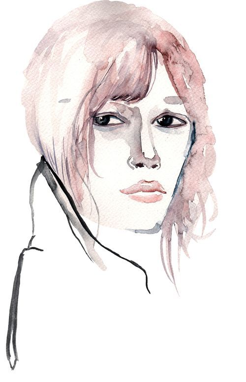 Cisco #illustration #painting #watercolor #fashion