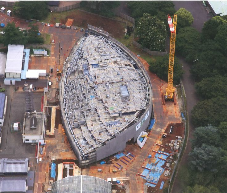 Aerial view during construction