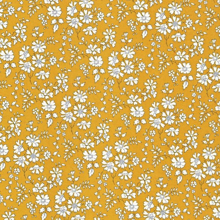 Gorgeous mustard colourway of Liberty Tana Lawn Fabric Capel G at www.alicecaroline.co.uk