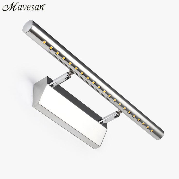 Hot selling LED Bathroom Mirror Wall Lamp Stainless Steel Cold/warm Aluminum boby bathroom light fixtures