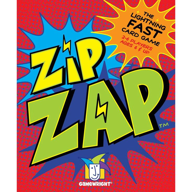 Gamewright TGMW-29 Zip Zap lightning-fast card game