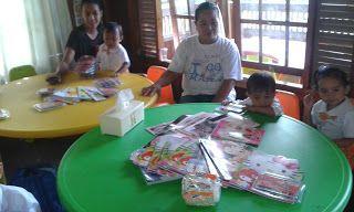Sunflower Association: 13 children they send a thank you to Gloria Benini...