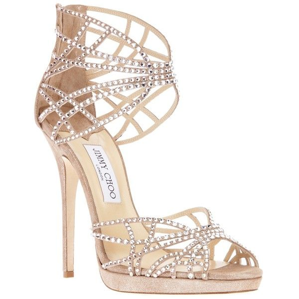 JIMMY CHOO 'Diva' sandal pump found on Polyvore #shoes
