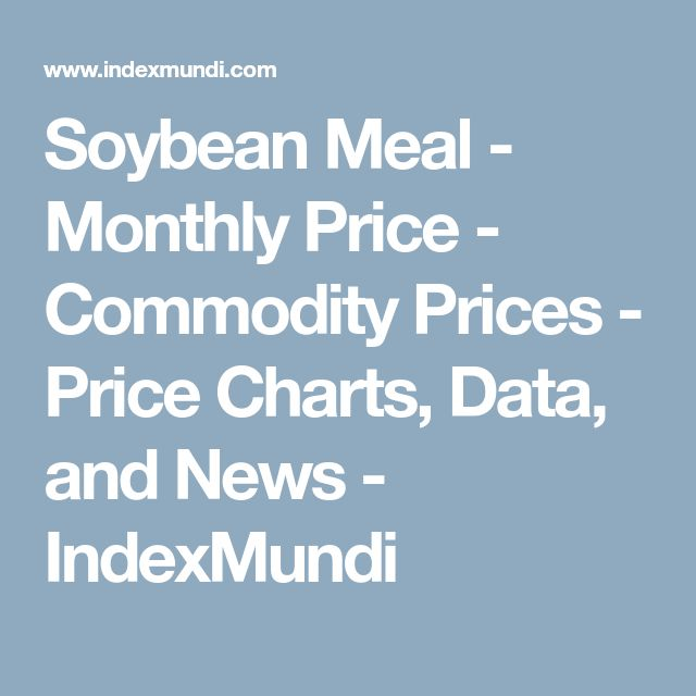 Soybean Meal - Monthly Price - Commodity Prices - Price Charts, Data, and News - IndexMundi
