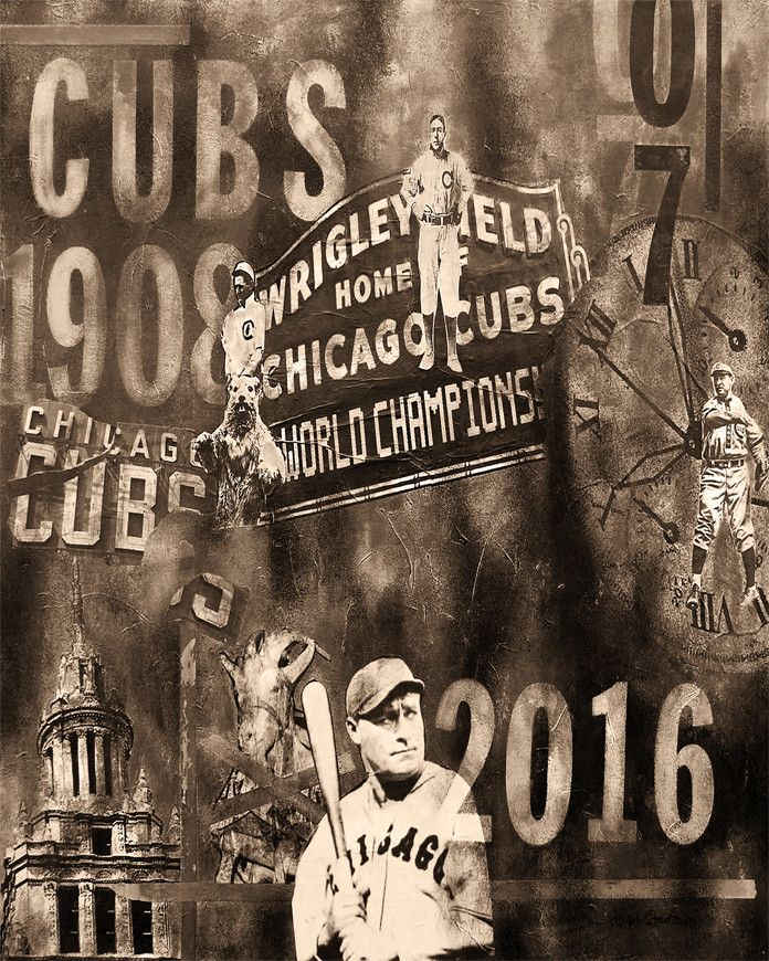 Mejores 12 imágenes de Chicago Cubs art en Pinterest | Chicago cubs ...