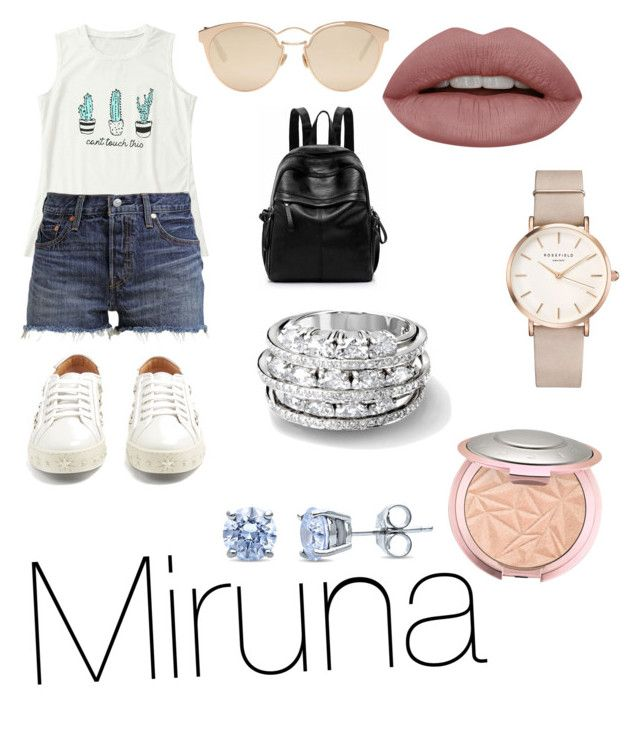 """""""Untitled #38"""" by jade2006 on Polyvore featuring Levi's, Aquazzura, Christian Dior, ROSEFIELD and BERRICLE"""