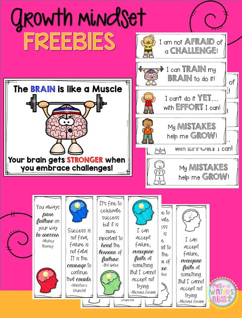 Free Growth Mindset Resources Do your students have a growth mindset or a fixed…