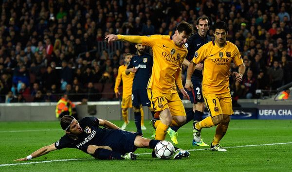 Lionel Messi Photos - FC Barcelona v Club Atletico de Madrid - UEFA Champions League Quarter Final: First Leg - Zimbio