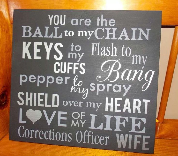 """Word swap on """"corrections officer wife"""" and choose 1 color of vinyl or 20+!  Choose your own board color too!    (landrews@lifeexpressionsdecor.com)"""