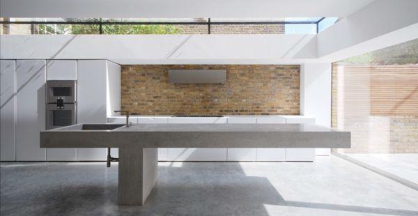 küche arbeitsplatte aus beton inspirierendes design