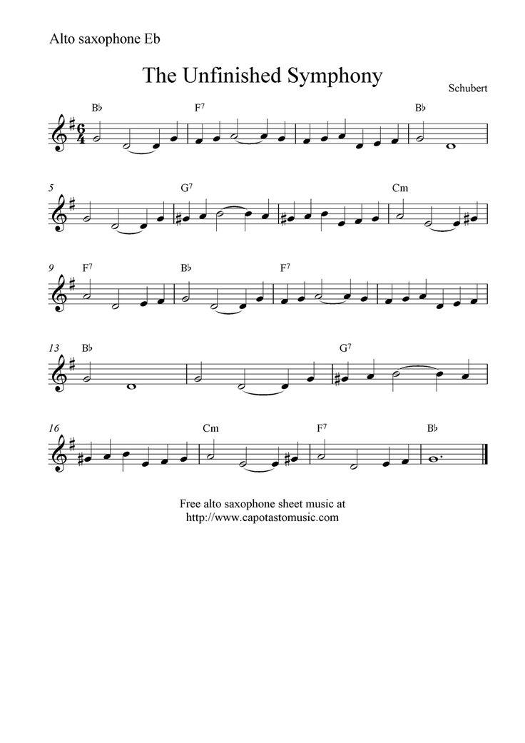 Alto Sax Sheet Music Saxophone Kootationcom