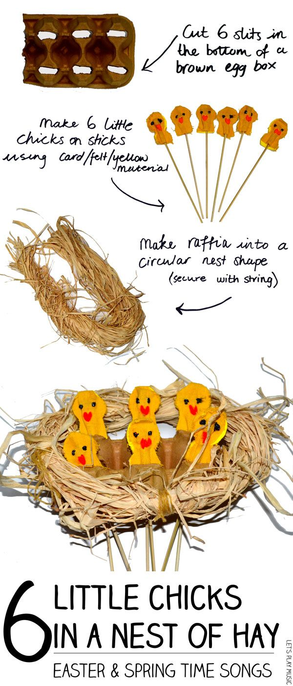 6 Little Chicks in a Nest of Hay - Adorable Spring Song for Counting & Subtracting & Enjoying Spring!