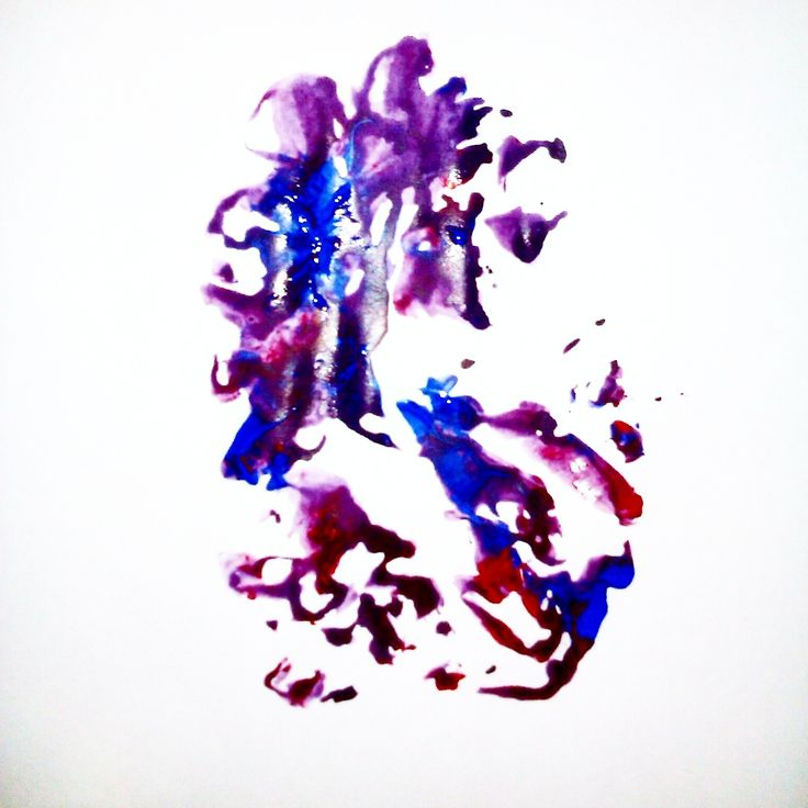 Abstract acylic painting on paper