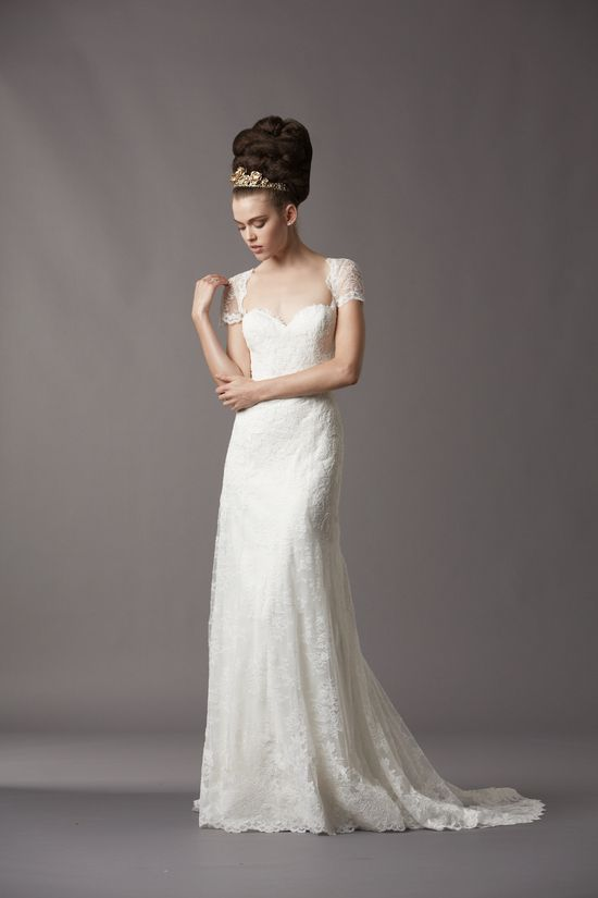 Vintage Wedding Dresses Bay Area : Gorgeous lace cap sleeve wedding gown from watters