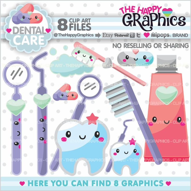 Dentist Clipart, Dentist Graphics, COMMERCIAL USE, Kawaii Clipart, Dental Care Clipart, Planner Accessories, Tooth Clipart, Health Clip Art