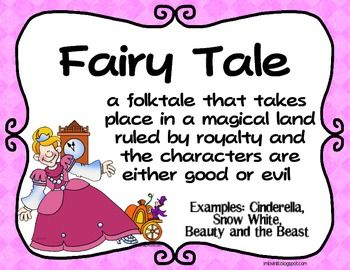 FREE - FOLKTALE GENRES POSTER SET FREEBIE! FAIRY TALE, TALL TALE, FABLE, MYTH, & LEGEND