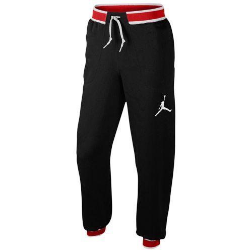 Jordan The Varsity Sweatpant - Men's - Basketball - Clothing - Black/Gym Red/White
