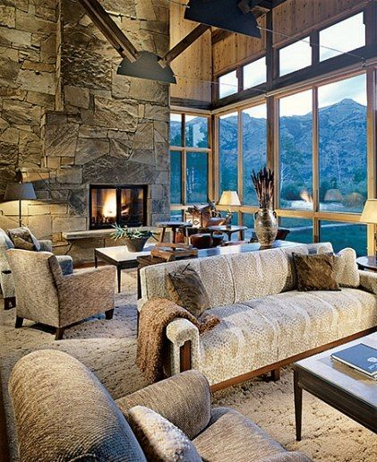 51 Modern Living Room Design From Talented Architects: 17 Best Images About Rustic Great Rooms On Pinterest