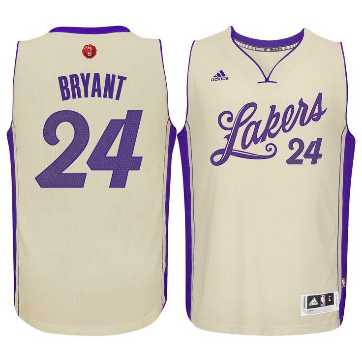 ... Mens Los Angeles Lakers Kobe Bryant adidas Cream Christmas Day Swingman  Jersey ... d68c5b495