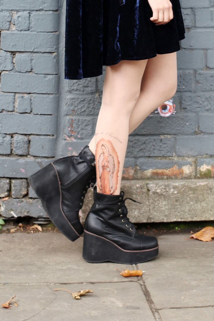 Mary Tattoo Halloween Tights!!   http://www.thewhitepepper.com/collections/socks-tights/products/mary-tattoo-tights