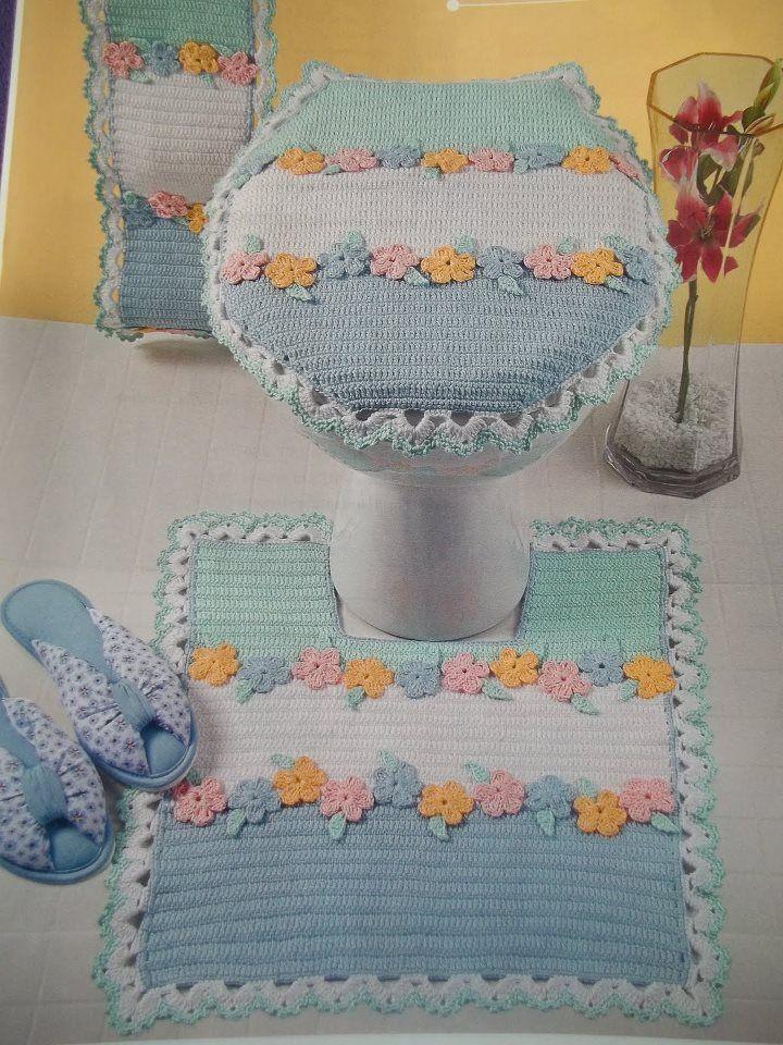 De tejido crochet y otras yerbas....: 24.- Alfombras, para el baño, dormitorio y màs....