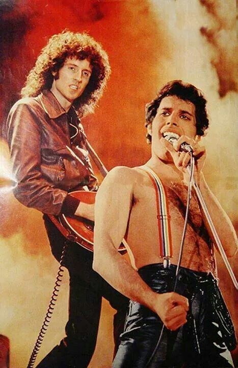 Freddie Mercury and Brian May; Queen