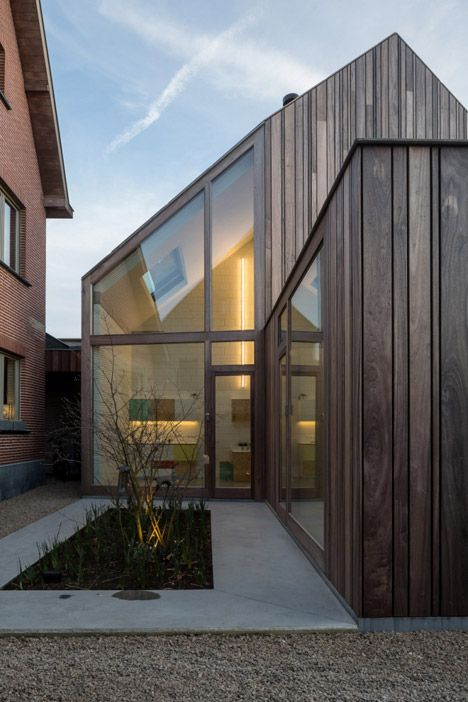 "Declerck-Daels Architecten used different varieties of timber and ""frivolous"" colours for this dentist surgery in Bruges."