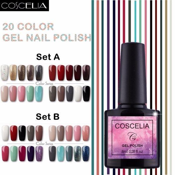 20colors Coscelia Gel Polish 8ml Uv Gel Nail Polish Nail Polish