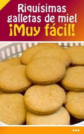 #galletas #miel #reseta #fácil