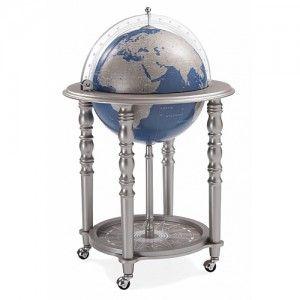 Bar globe Elegance Grey with Blue Globe
