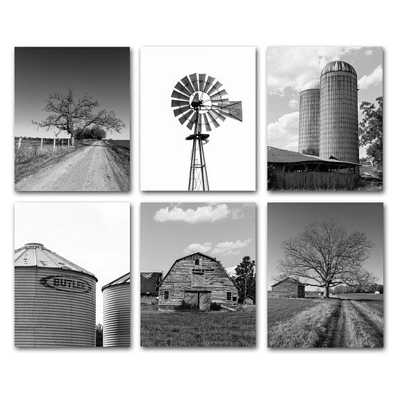 Industrial Farmhouse Photography Prints Rustic Home Decor Barn Silos Windmill Framed Farmhouse Prints Indust Barn Pictures Barn Prints Farmhouse Pictures