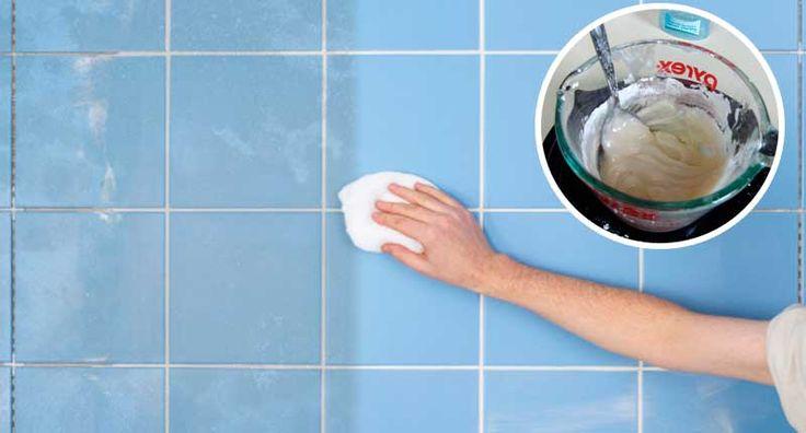 Parece imposible, esta efectiva solución natural limpia Losetas y azulejos | Trucos de casa
